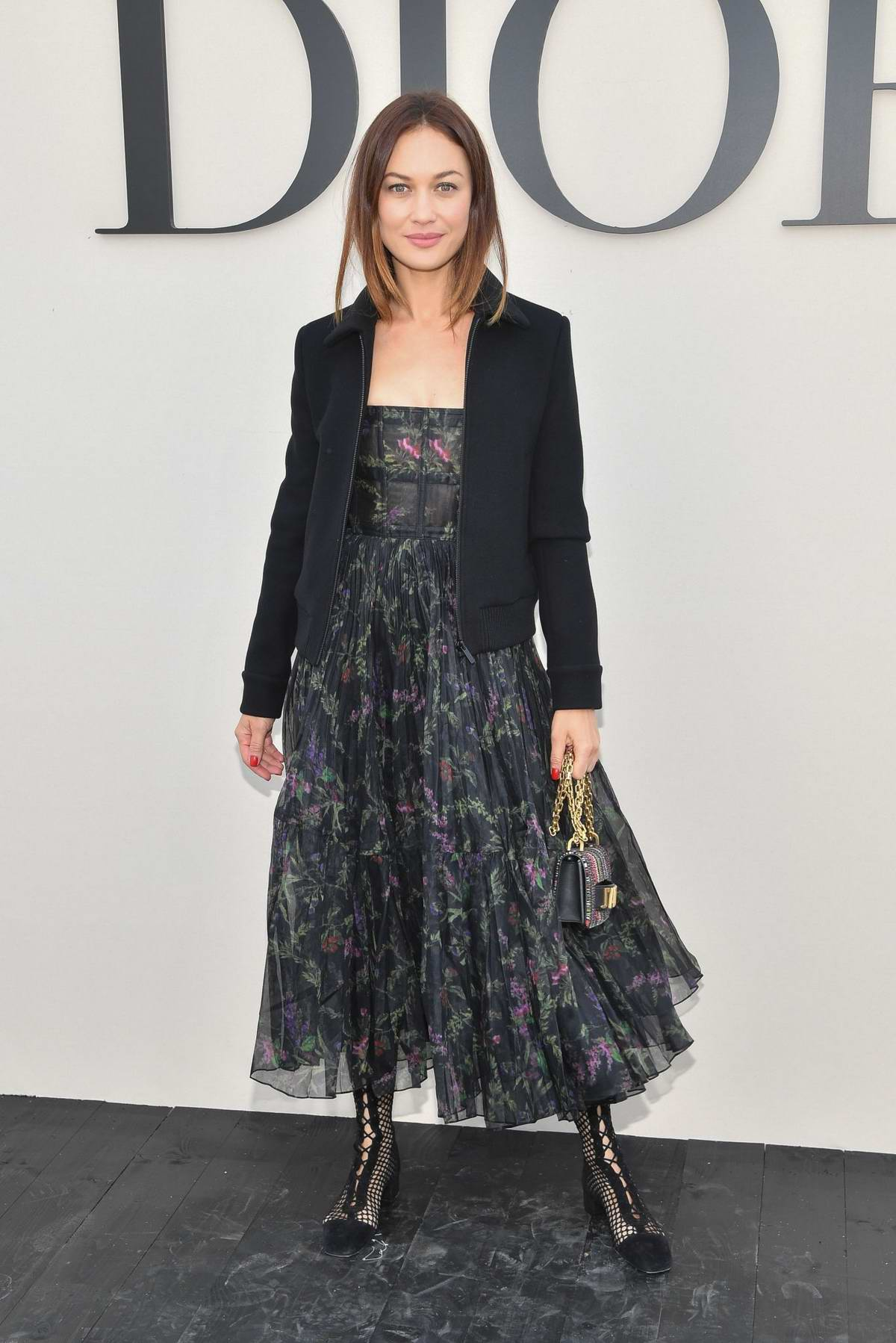 Olga Kurylenko attends the Christian Dior Show during Paris Fashion Week in Paris, France