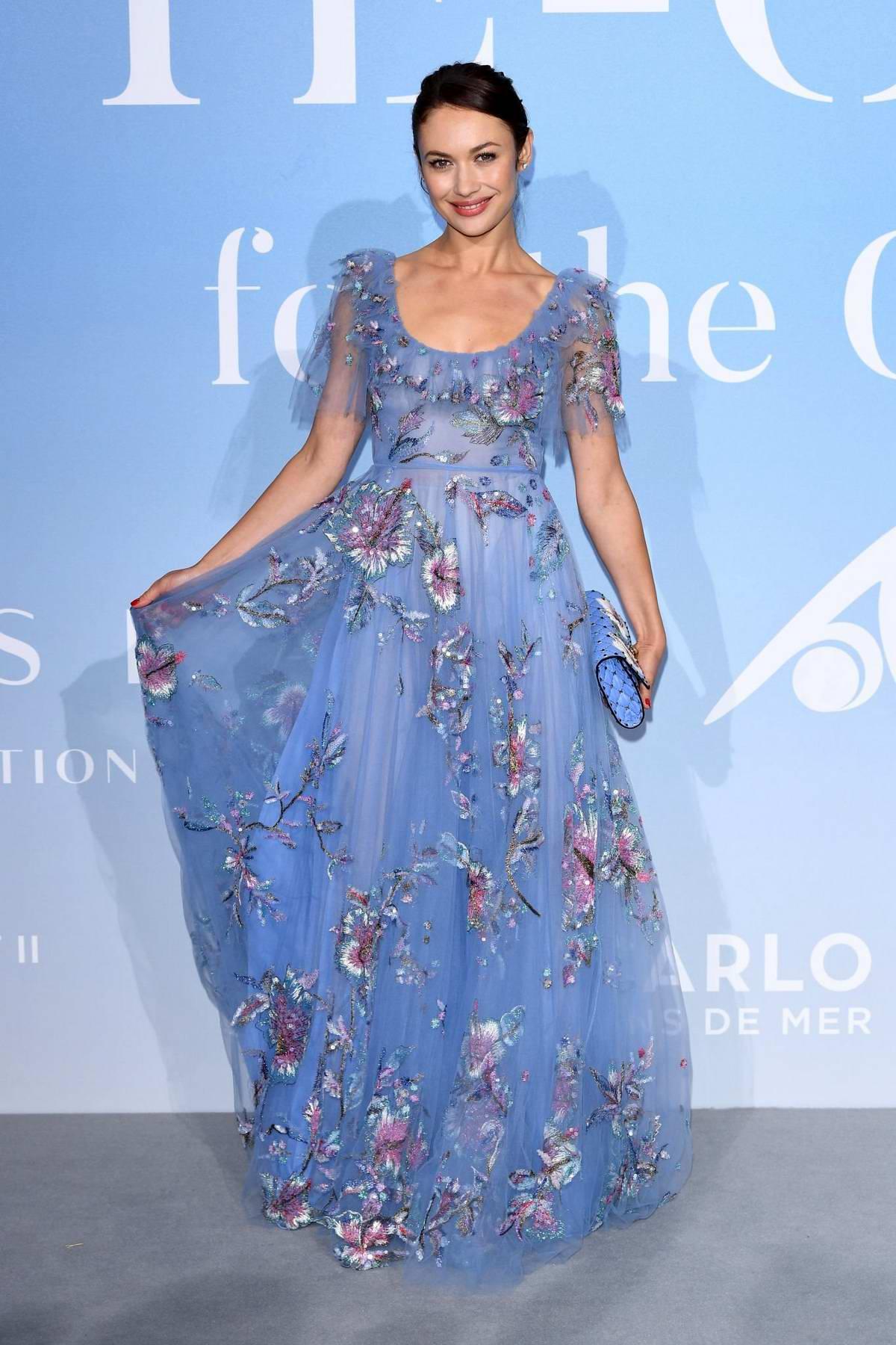Olga Kurylenko attends the Gala For The Global Ocean in Monte Carlo, Monaco