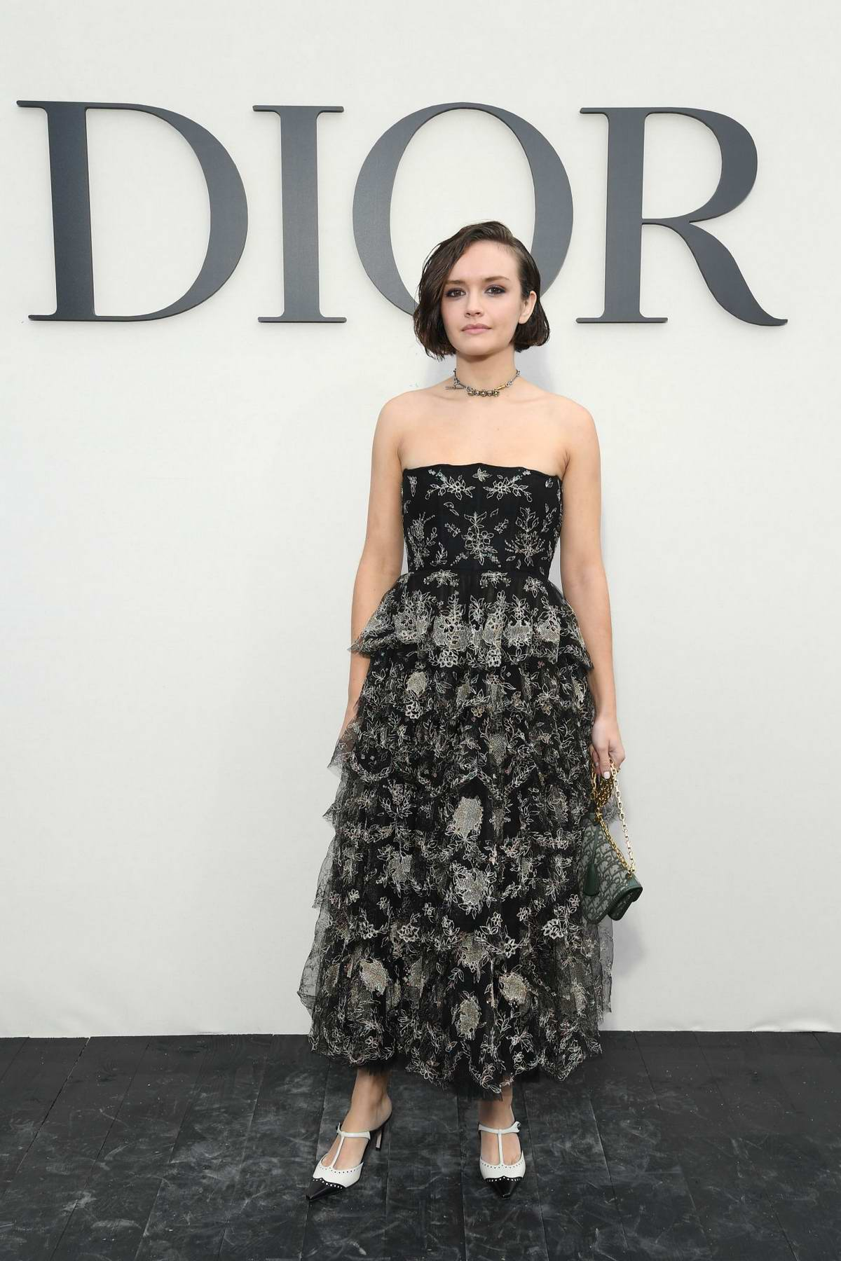 Olivia Cooke attends the Christian Dior Show during Paris Fashion Week in Paris, France