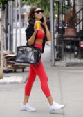 Olivia Culpo spotted without makeup while talking on her phone after a workout in New York City