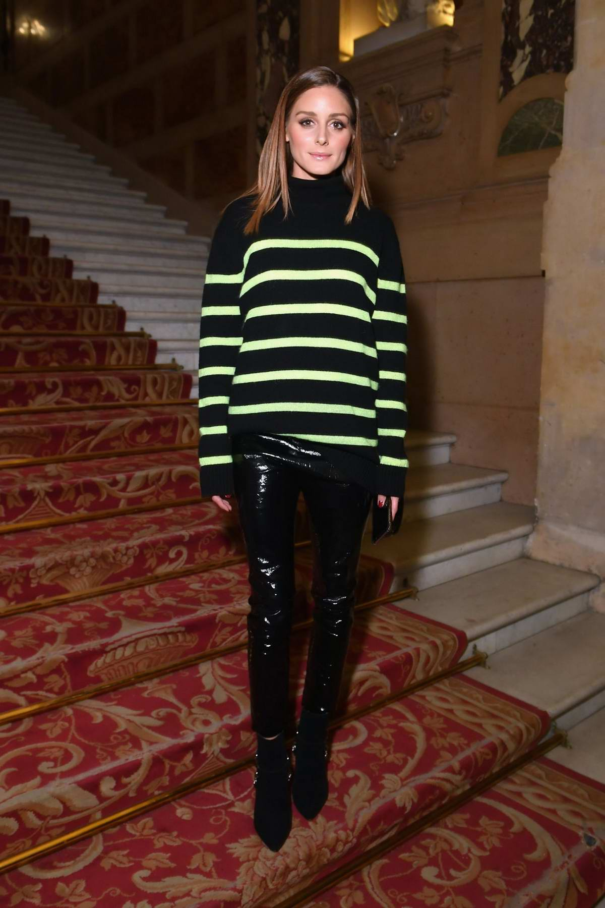 Olivia Palermo attends the Balmain Show during Paris Fashion Week in Paris, France