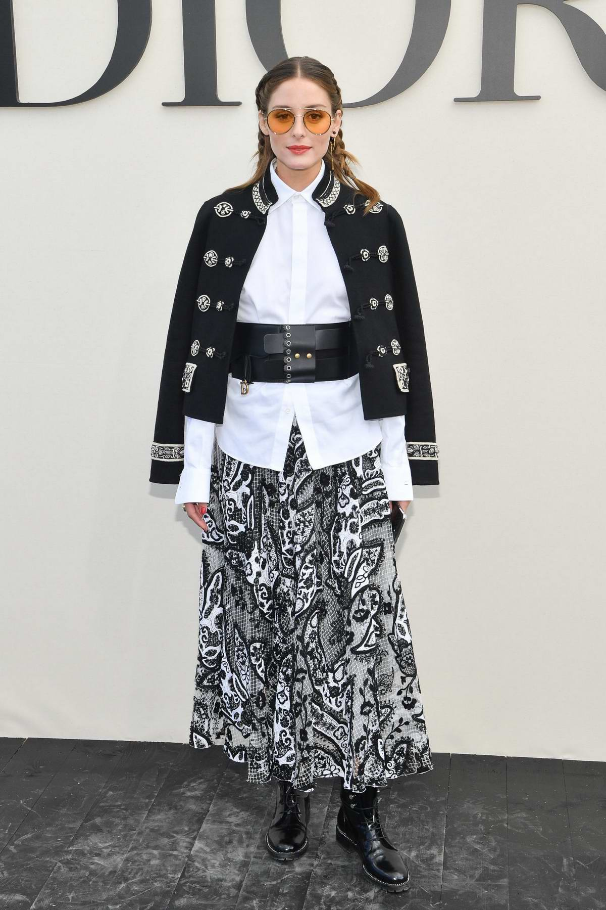 Olivia Palermo attends the Christian Dior Show during Paris Fashion Week in Paris, France