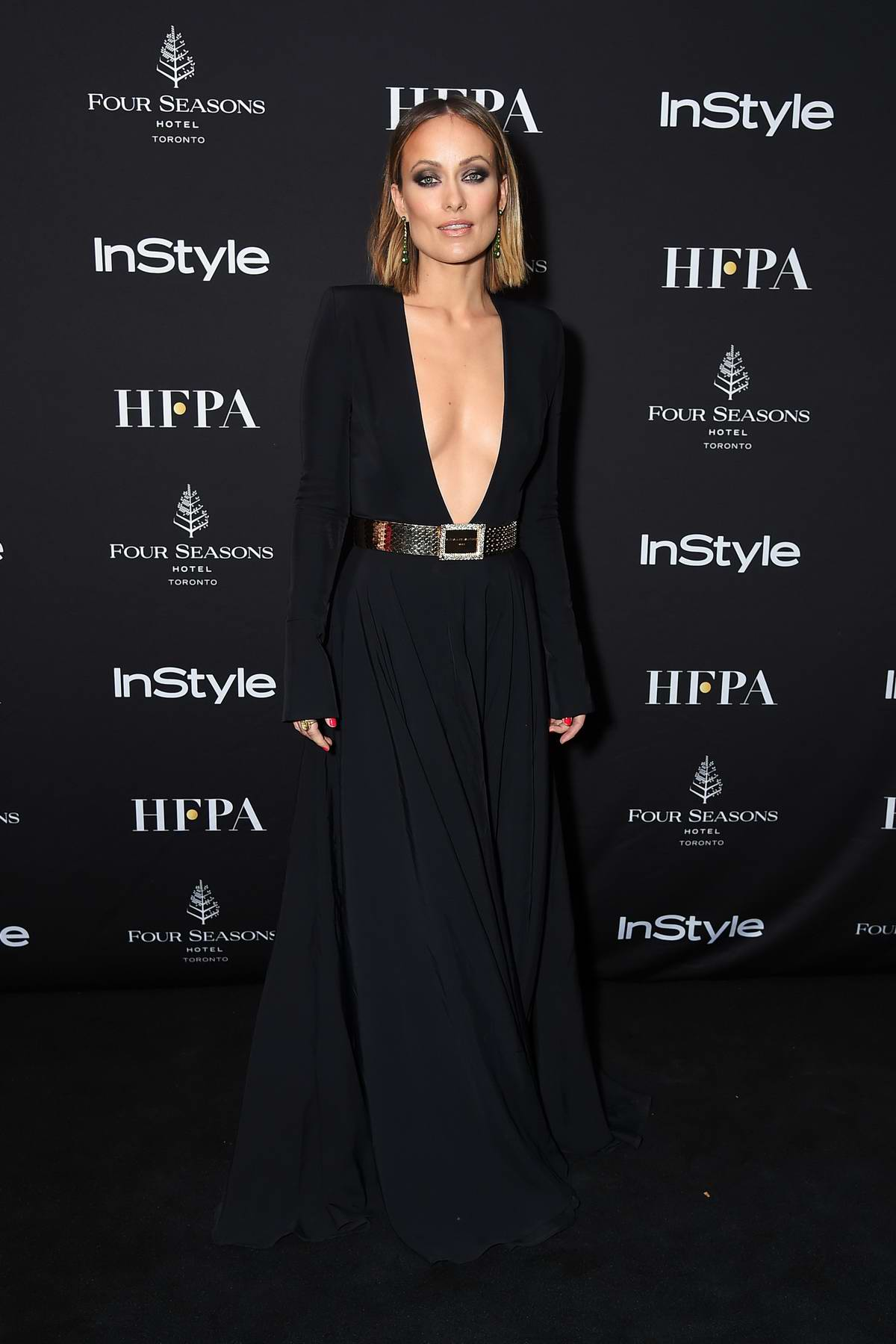 Olivia Wilde attends HFPA and InStyle Party during the Toronto International Film Festival (TIFF 2018) in Toronto, Canada