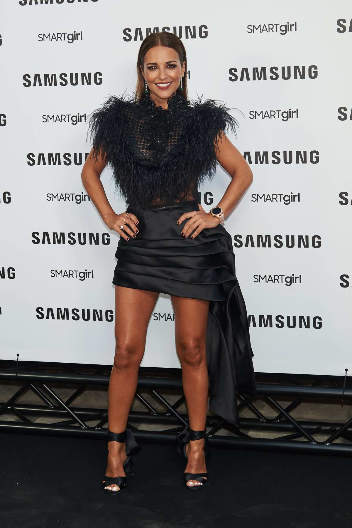 Paula Echevarria attends Samsung Galaxy Watch presentation photocall at Palacio de Saldana in Madrid, Spain