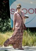 Rachel McAdams spotted in a floral summer dress while out with her sister in Los Angeles