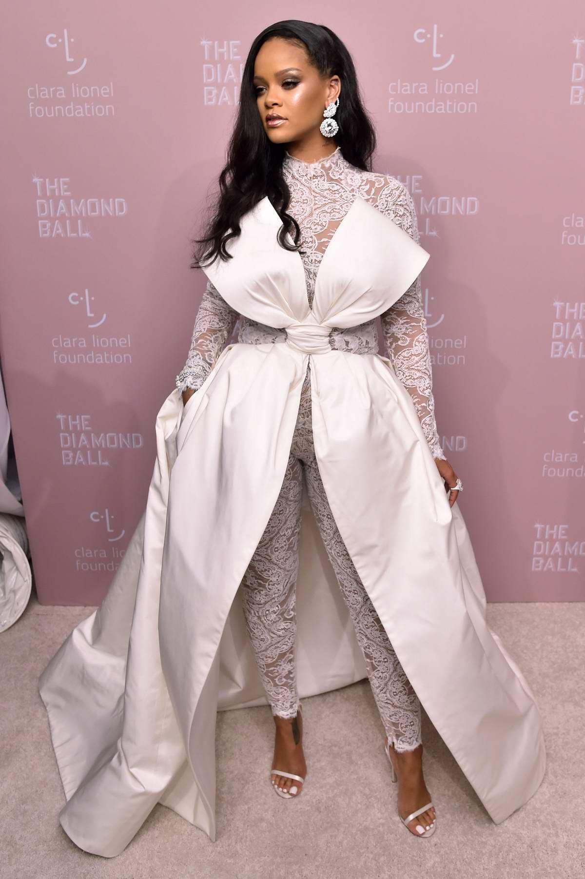 Rihanna attends 4th Annual Clara Lionel Foundation Diamond Ball in New York City