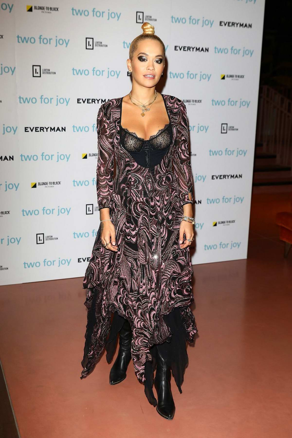 Rita Ora attends the UK Premiere of 'Two For Joy' in London, UK