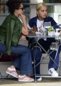 Rita Ora enjoys lunch with her sister Elena at a cafe in London, UK