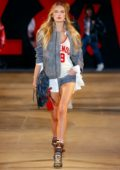 Romee Strijd walks the runway for the Zadig & Voltaire Show during Paris Fashion Week in Paris, France