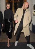 Rosie Huntington-Whiteley and Jason Statham spotted while out on a dinner date in London, UK