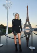 Rosie Huntington-Whiteley attends the Saint Laurent Show during Paris Fashion Week in Paris, France