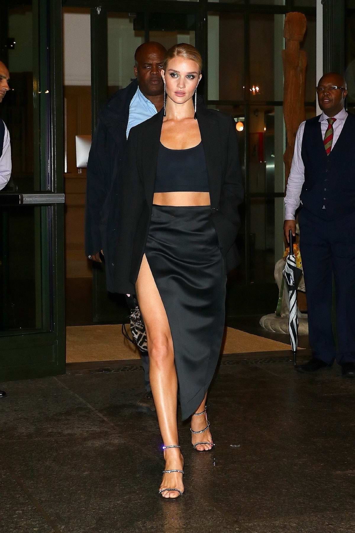 Rosie Huntington-Whiteley steps out for an evening in New York City