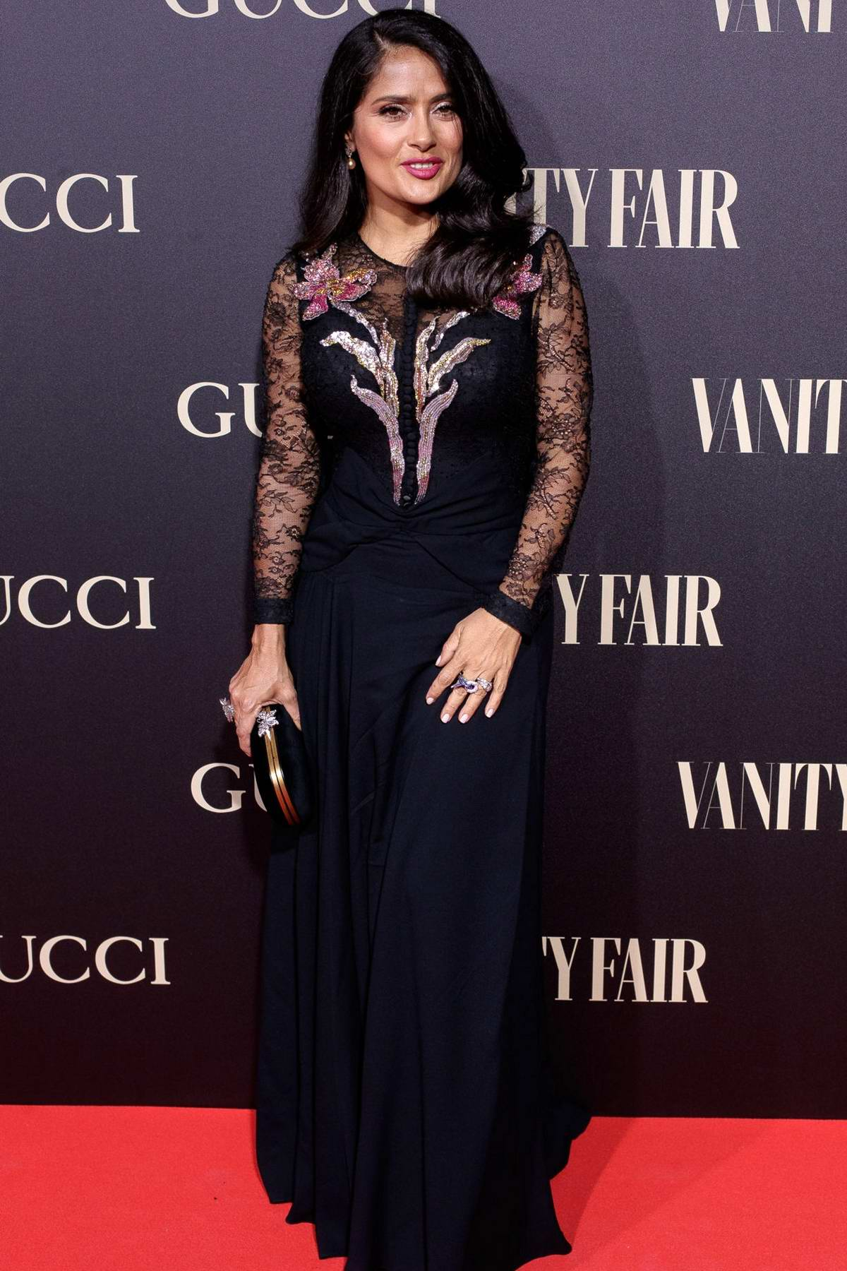 Salma Hayek attends 'Vanity Fair Personality Of The Year' Awards in Madrid, Spain