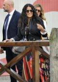 Salma Hayek seen with husband Francois Henri Pinault during 75th Venice Film Festival in Venice, Italy