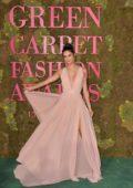 Sara Sampaio attends the Green Carpet Fashion Awards, Italia 2018 in Milan, Italy