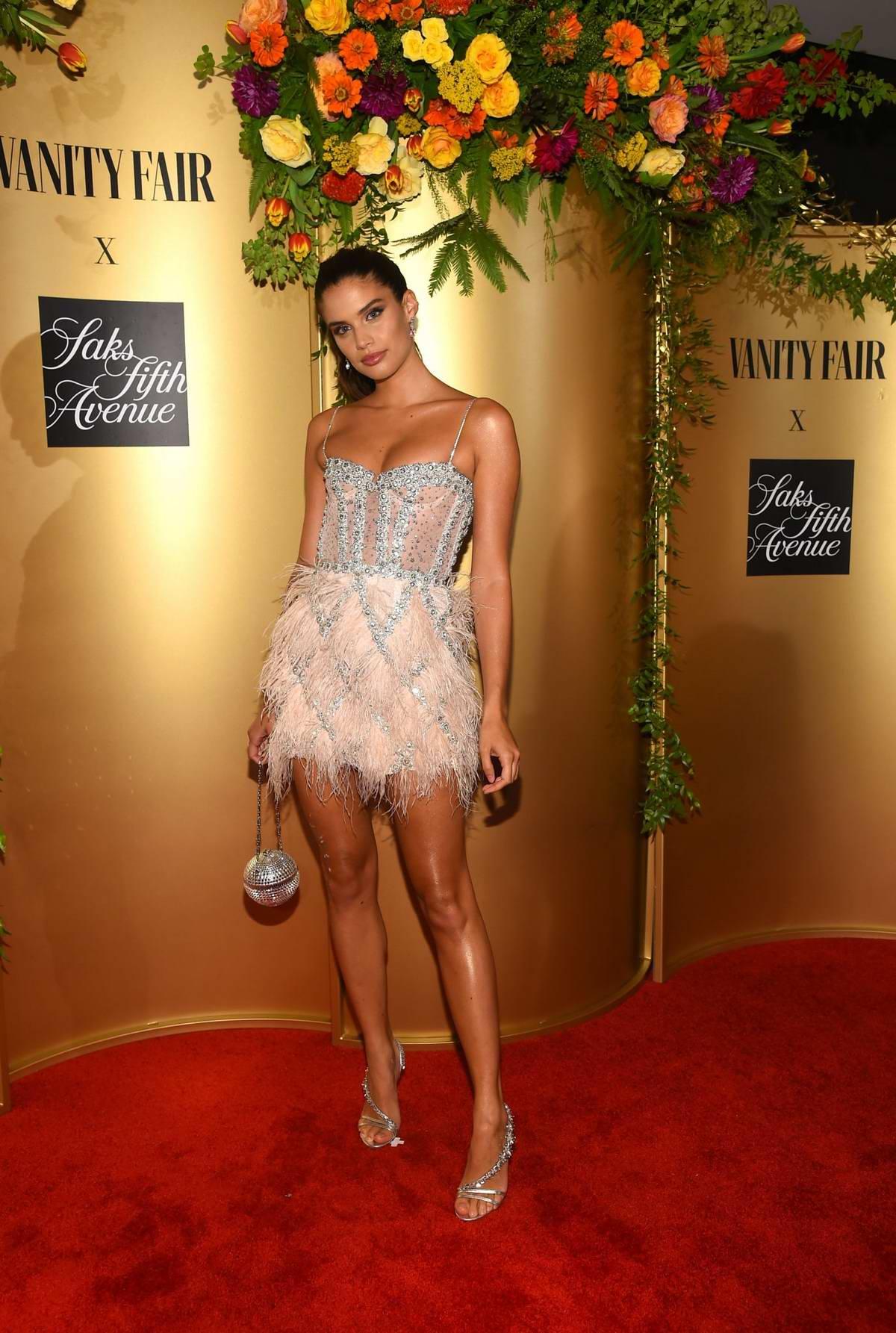 Sara Sampaio attends Vanity Fair and Saks Fifth Avenue celebrate Vanity Fair's Best-Dressed 2018 at Manhatta in New York City