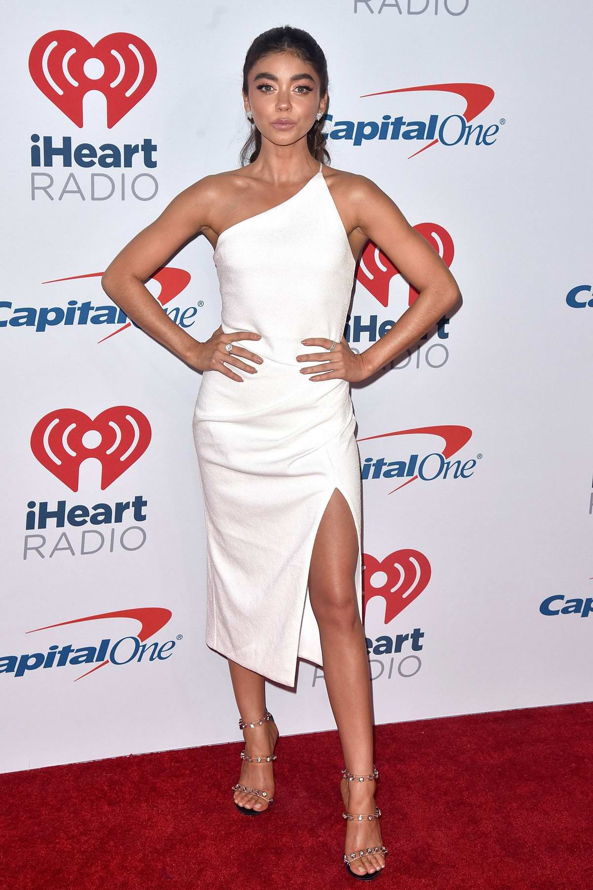 Sarah Hyland attends iHeartRadio Music Festival at T-Mobile Arena in Las Vegas, Nevada