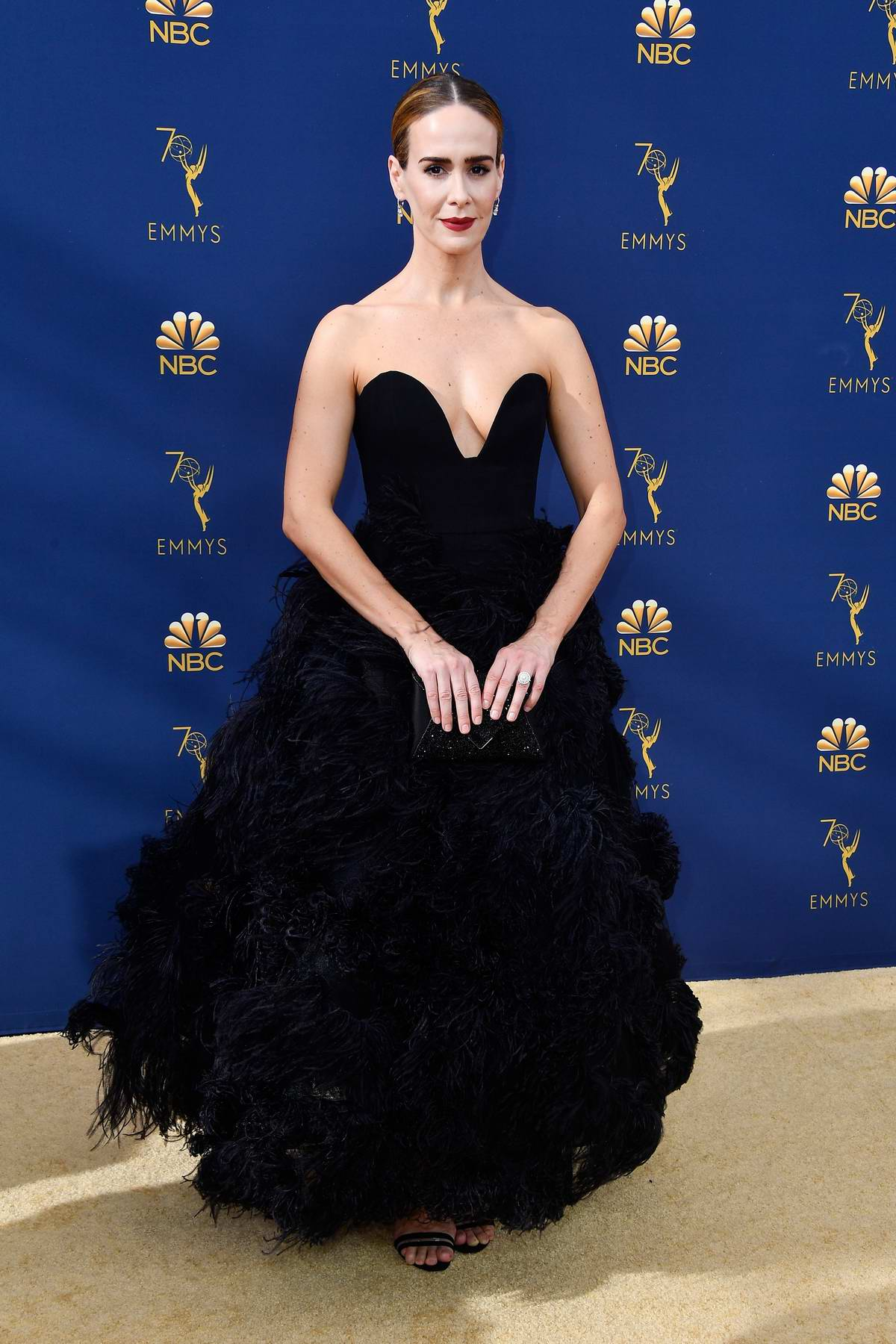 Sarah Paulson attends the 70th Primetime EMMY Awards (EMMYS 2018) at Microsoft Theater in Los Angeles