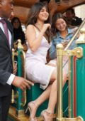 Selena Gomez at the Coach Pop Up Launch at The Grove in Los Angeles