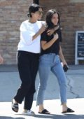 Selena Gomez is all smiles as she stopped by Alfred Coffee for some smoothies with her friends in Studio City, Los Angeles
