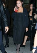 Selena Gomez spotted during a night out with Raquelle Stevens at La Esquina in New York City
