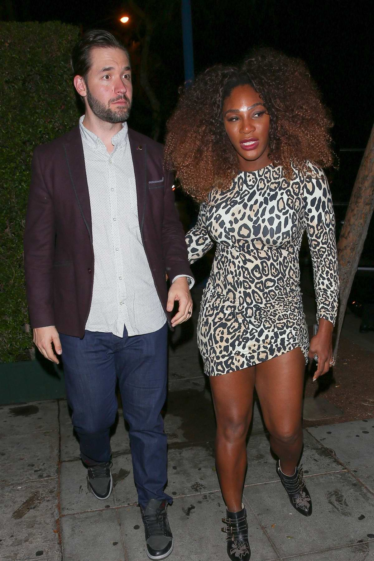 Serena Williams arrives at The 2018 Imagine Ball at the Peppermint Club in Los Angeles