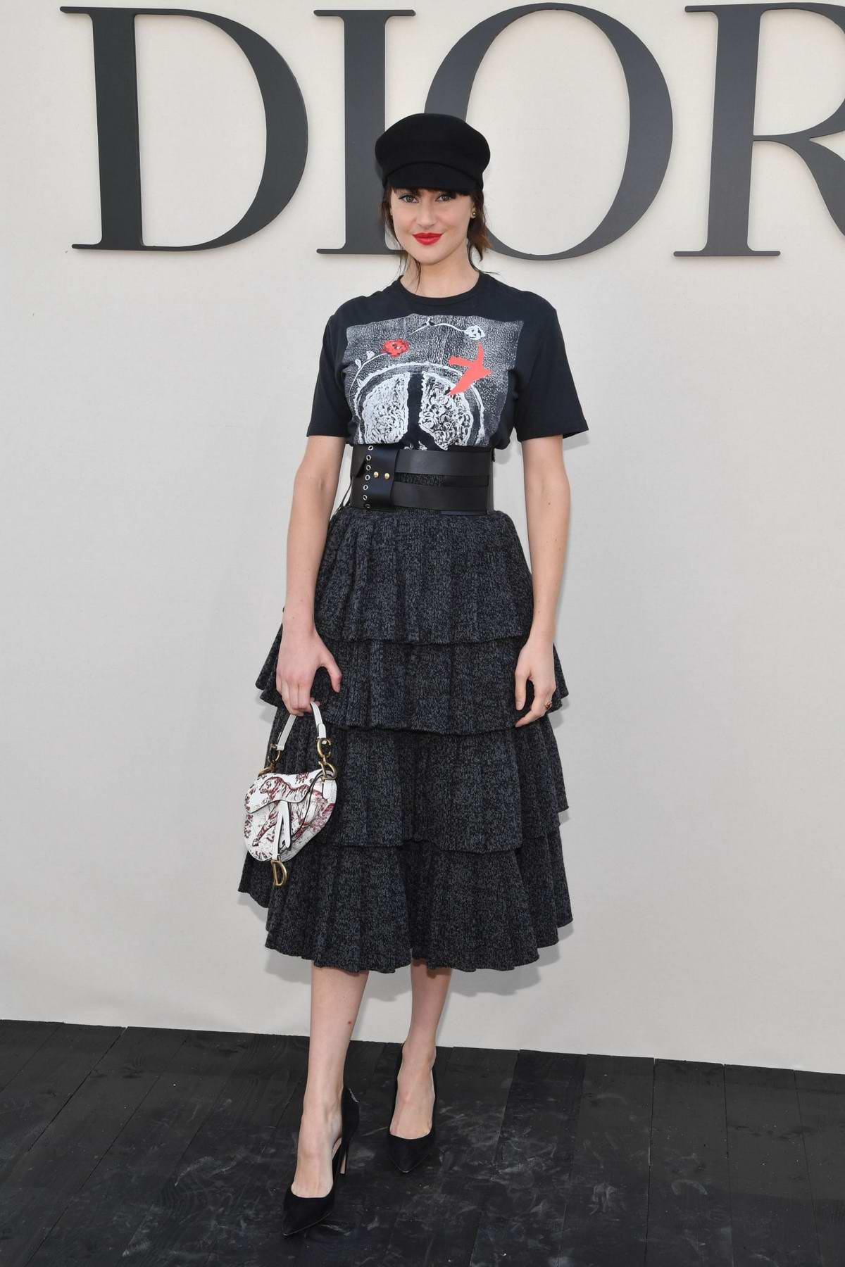 Shailene Woodley attends the Christian Dior Show during Paris Fashion Week in Paris, France