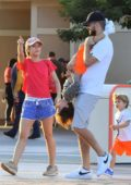 Shakira and Gerard Piqué enjoy a day at Disneyland with their kids in Anaheim, California