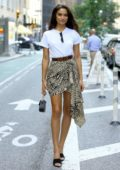 Shanina Shaik attends callbacks for the Victoria's Secret Fashion Show 2018 in Midtown, New York City