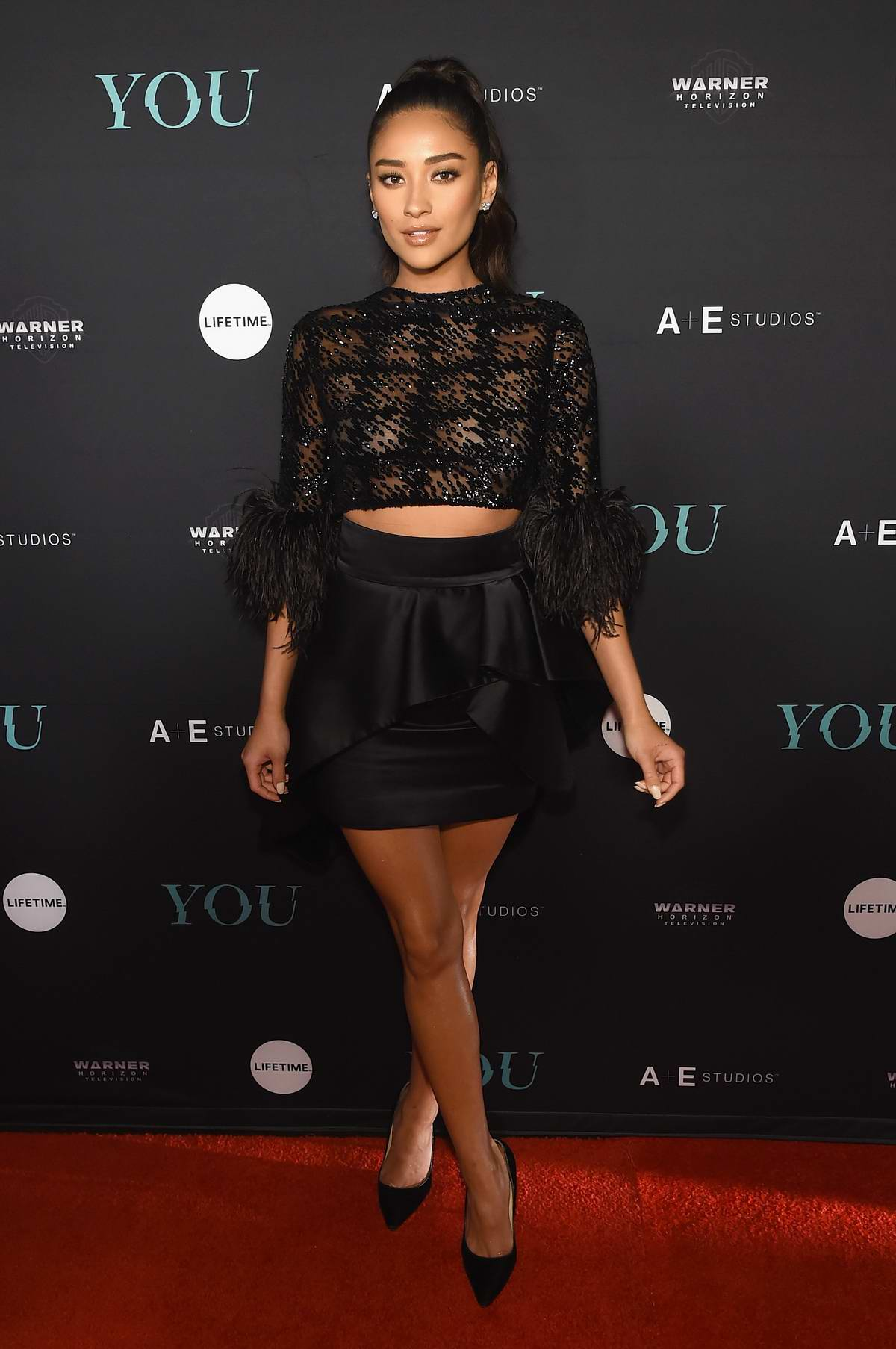 Shay Mitchell attends 'You' TV series premiere in New York City