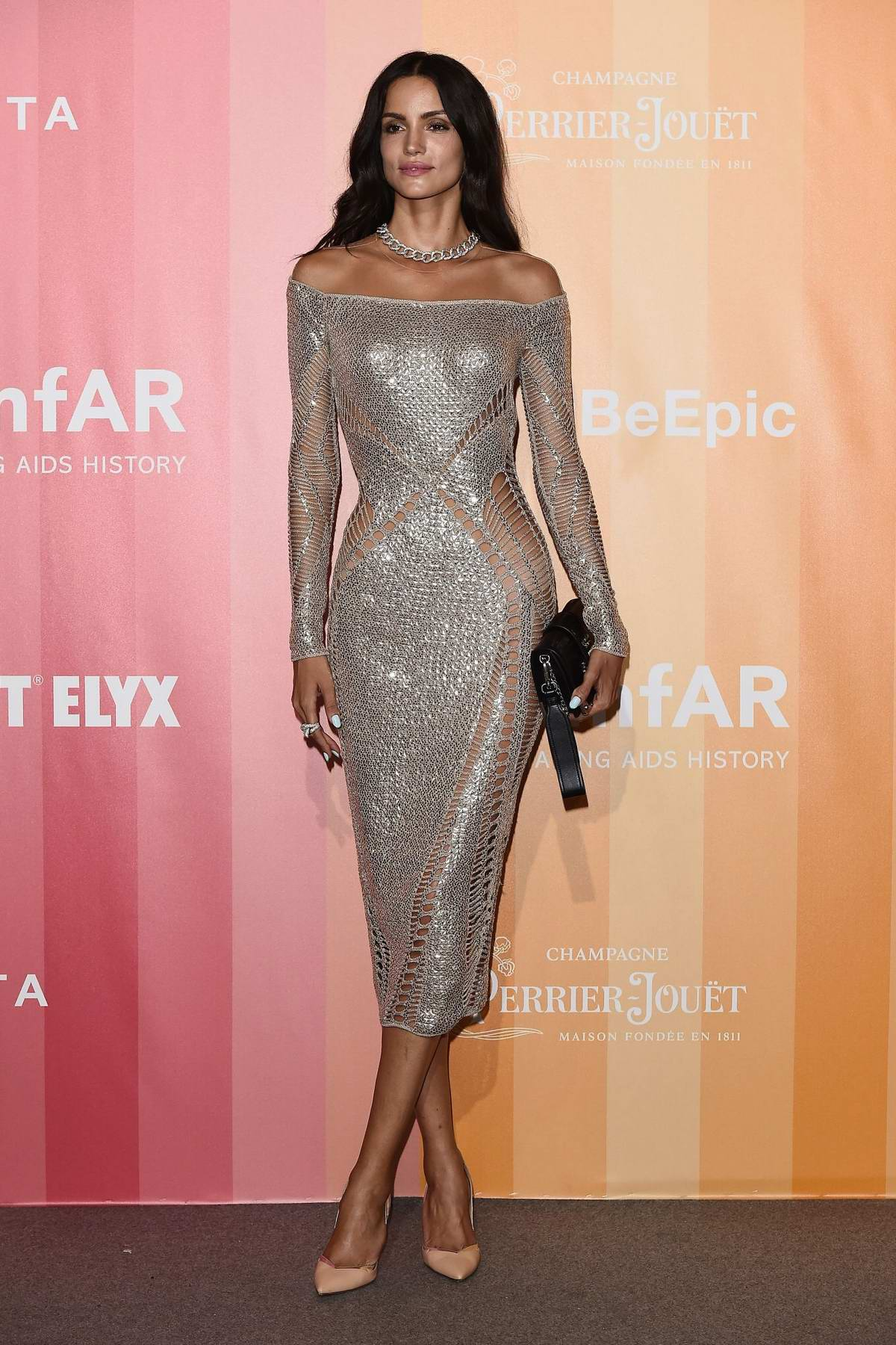 Sofia Resing attends amfAR Gala at La Permanente in Milan, Italy