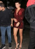 Sofia Richie arrives at the Tommy Hilfiger bash during New York Fashion Week in New York City