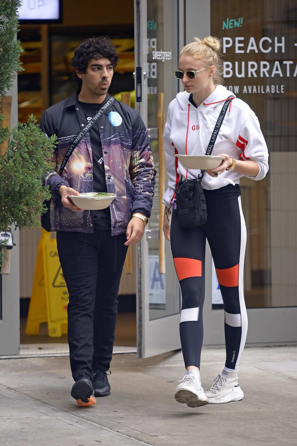 Sophie Turner and Joe Jonas grabs some takeout at Sweetgreen restaurant in New York City