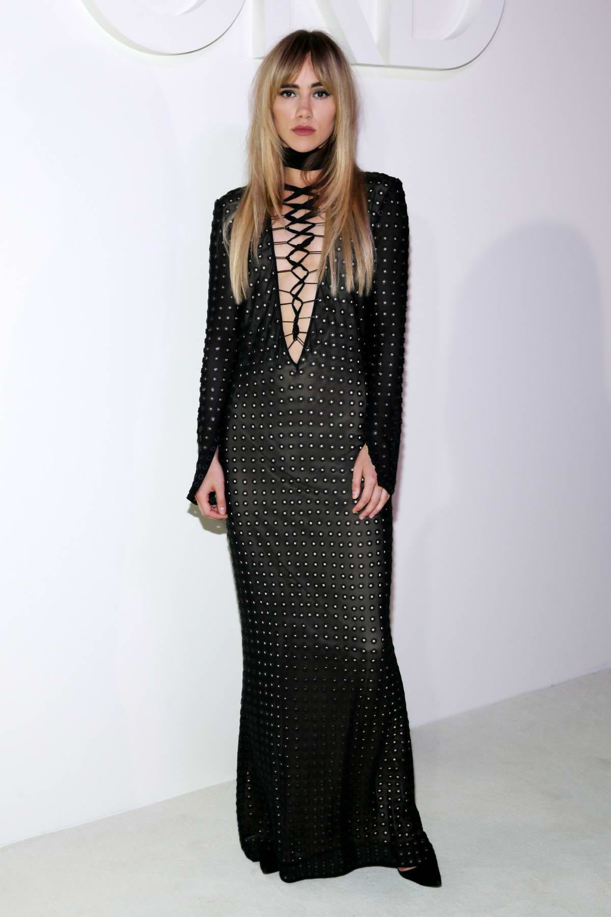 Suki Waterhouse attends Tom Ford Spring/Summer 2019 during New York Fashion Week in New York City