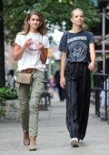 Taylor Hill and Daphne Groeneveld out for a stroll through Tribeca in New York City