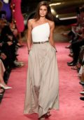 Taylor Hill walks the runway for Brandon Maxwell Spring/Summer 2019 Fashion Show during New York Fashion Week in New York City