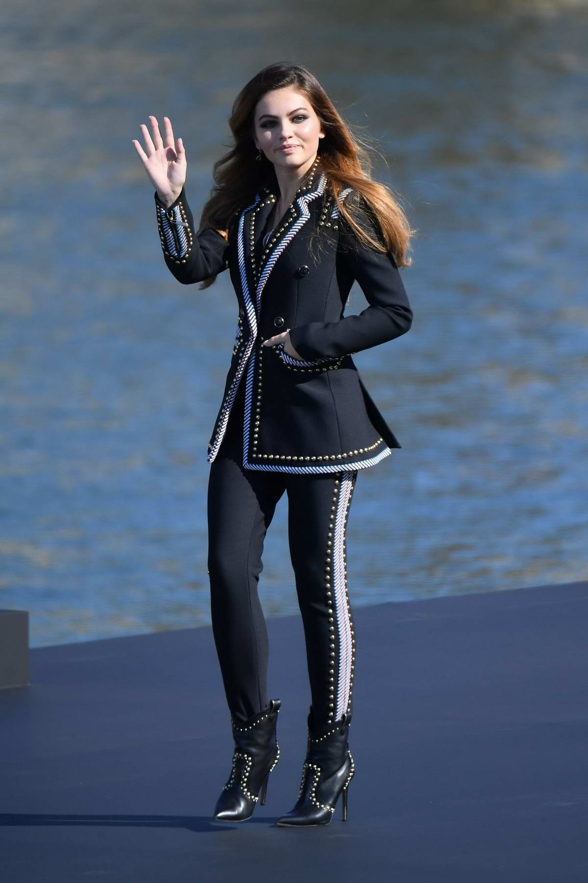 Thylane Blondeau walks the runway for the L'oreal Fashion Show during Paris Fashion Week in Paris, France