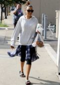 Tinashe spotted in a hoodie and leggings as she heads to DWTS rehearsal studio in Los Angeles