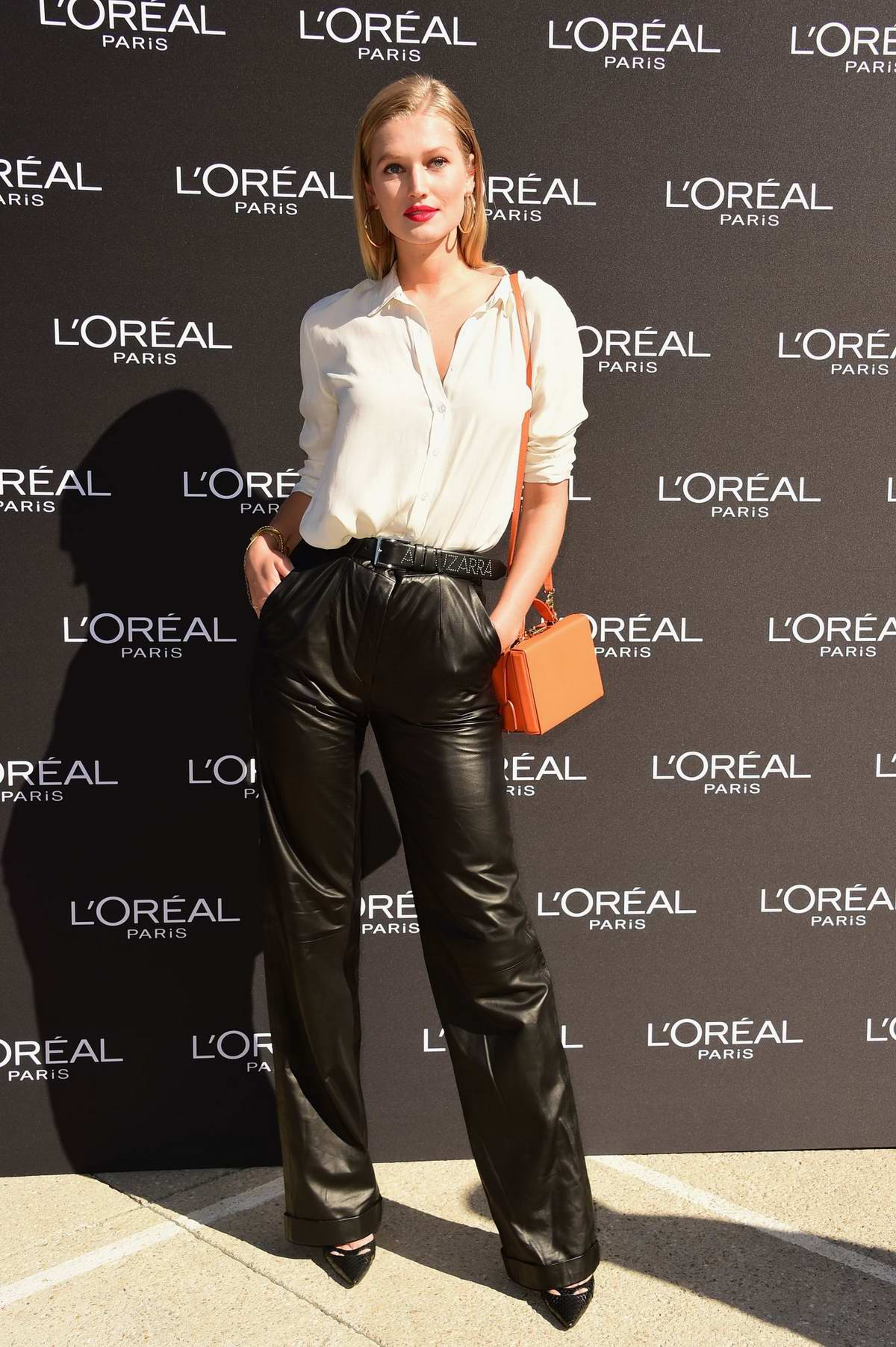 Toni Garrn attends the L'Oreal Fashion Show during Paris Fashion Week in Paris, France