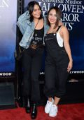 Vanessa Hudgens and Francia Raisa attends Universal Studios Hollywood 'Halloween Horror Nights' opening night in Los Angeles
