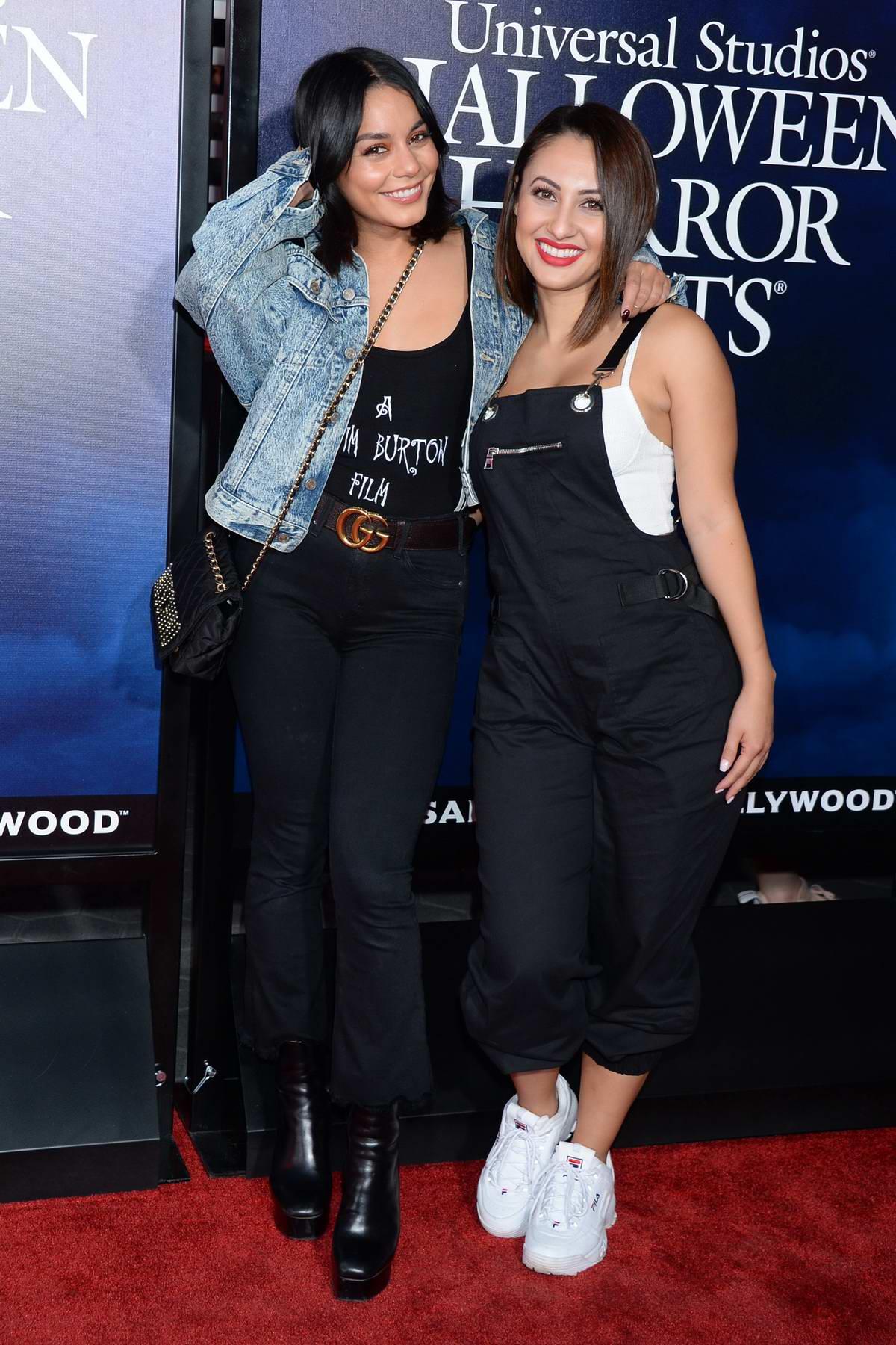 Vanessa Hudgens and Francia Raisa attends Universal Studios Hollywood 'Halloween Horror Nights' opening night in Los Angeles