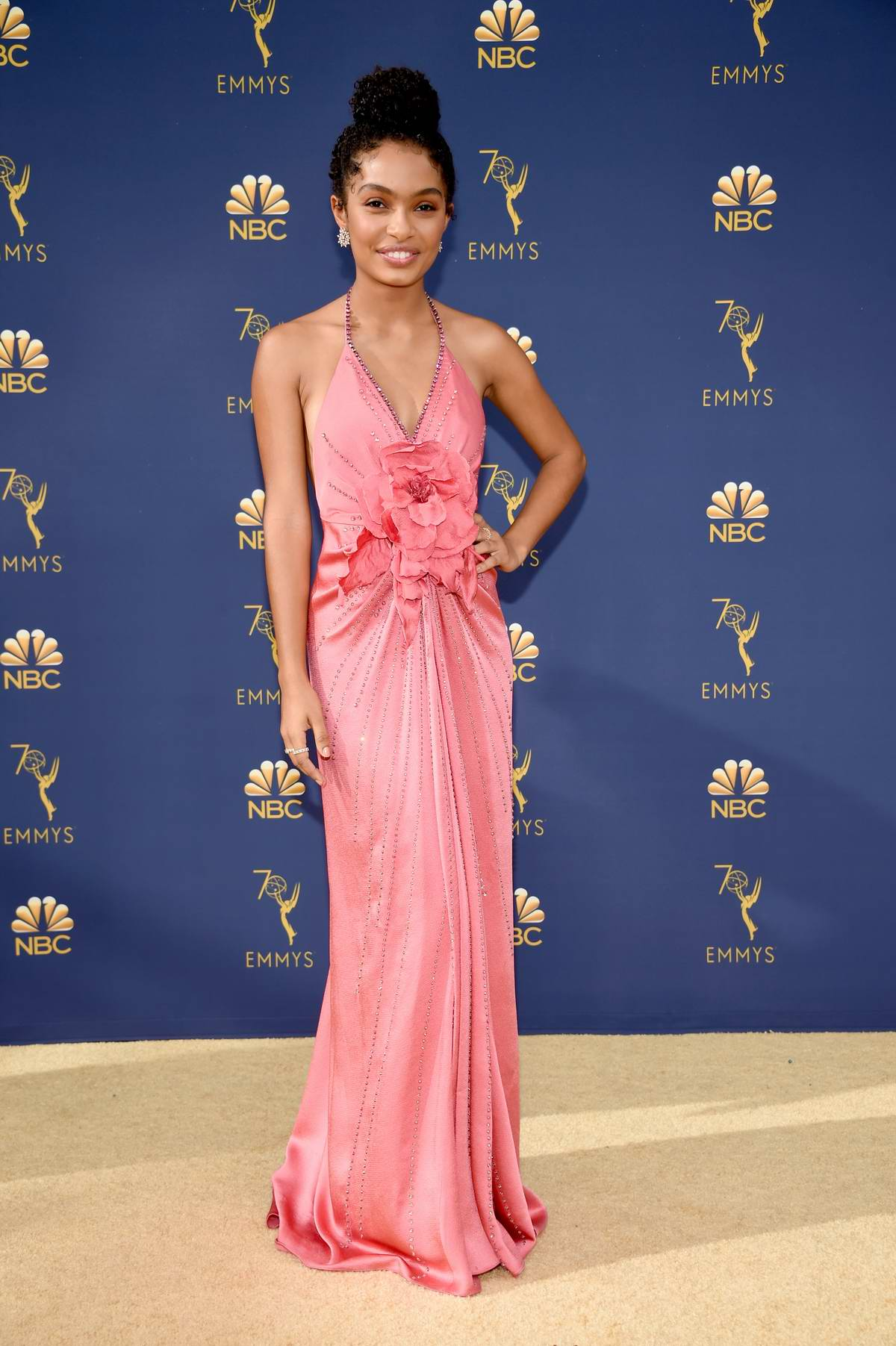 Yara Shahidi attends the 70th Primetime EMMY Awards (EMMYS 2018) at Microsoft Theater in Los Angeles