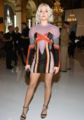Zara Larsson attends the Balmain Show during Paris Fashion Week in Paris, France