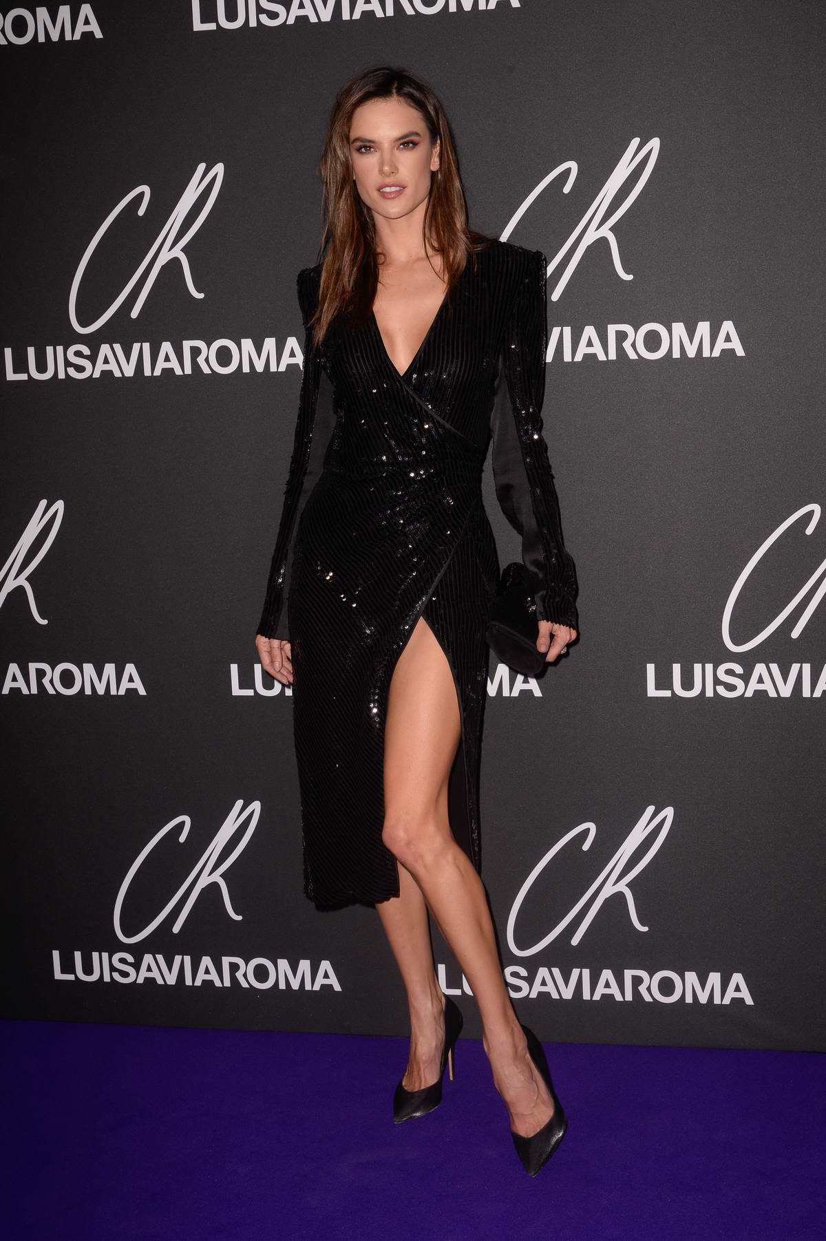 Alessandra Ambrosio attends the CR Fashion Book x Luisasaviaroma photocall during Paris Fashion Week in Paris, France