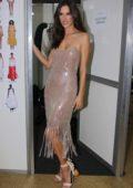 Alessandra Ambrosio attends the Le Lis Blanc fashion show in Sao Paulo, Brazil