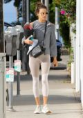 Alessandra Ambrosio hits her morning yoga class in Santa Monica, later visits a facial clinic in Encino, California