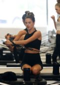 Alessandra Ambrosio spotted with her trainer during her pilates session in Santa Monica, California