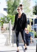 Alessandra Ambrosio stops by to pick up some groceries at Erewhon in Los Angeles
