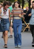 Alexandra Daddario seen on the set of her upcoming movie 'Can You Keep A Secret' in New York City