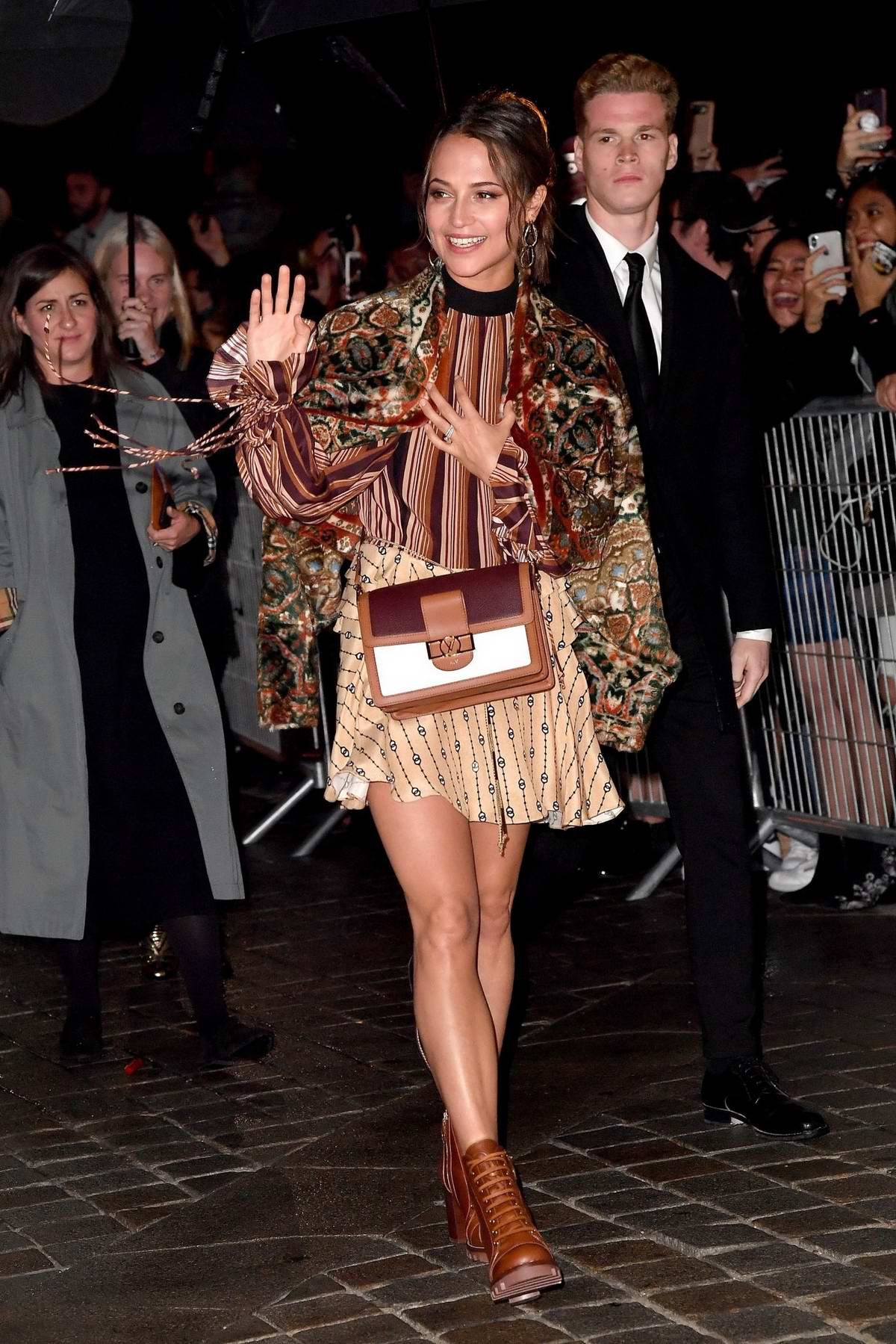 Alicia Vikander attending the Louis Vuitton show during Paris Fashion Week in Paris, France